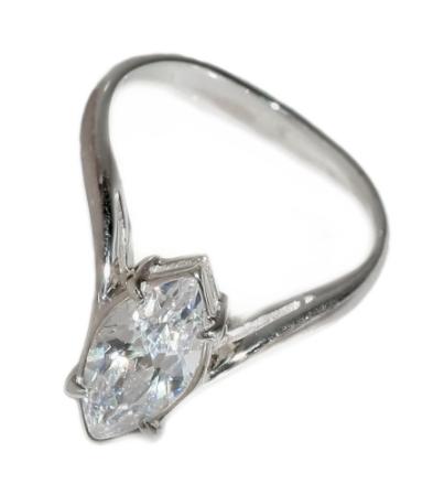 """Кольцо """"Джоди"""" с фианитом, покрытое серебром (s01530a0)"""
