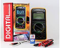 Мультиметр DT 9208, 200 мВ, 20 мкА, 200 Ом, тест 2.8 В/1 мА, тестер электронный