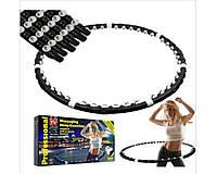Обруч HULA HOOP, 1,3 кг, встроенные магниты, массаж мышц живота и спины, обруч для похудения