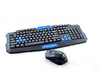 Клавиатура + мышь KEYBOARD HK-8100, беспроводное, для ПК, радиоканал связи, мышь игровая, клавиатура и мышь игровые, комплект мышки и клавиатуры
