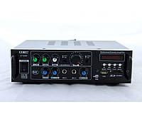 Усилитель мощности звука AMP AV 323 BT, USB, 2 микрофонных канала, 2 линейных, SD/MS/MMC, 300 мВ, микшер/караоке, усилитель мощности