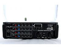 Усилитель мощности звука AMP AV 620 BT, 108мГц, SD/MMC, FM, DC 12V, 2-канальный, пульт ду, усилитель громкости