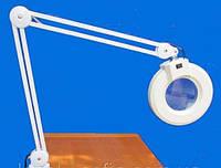Настольная (крепление к столу) лампа лупа на штативе с подсветкой