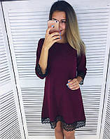 Стильное женское платье с кружевом
