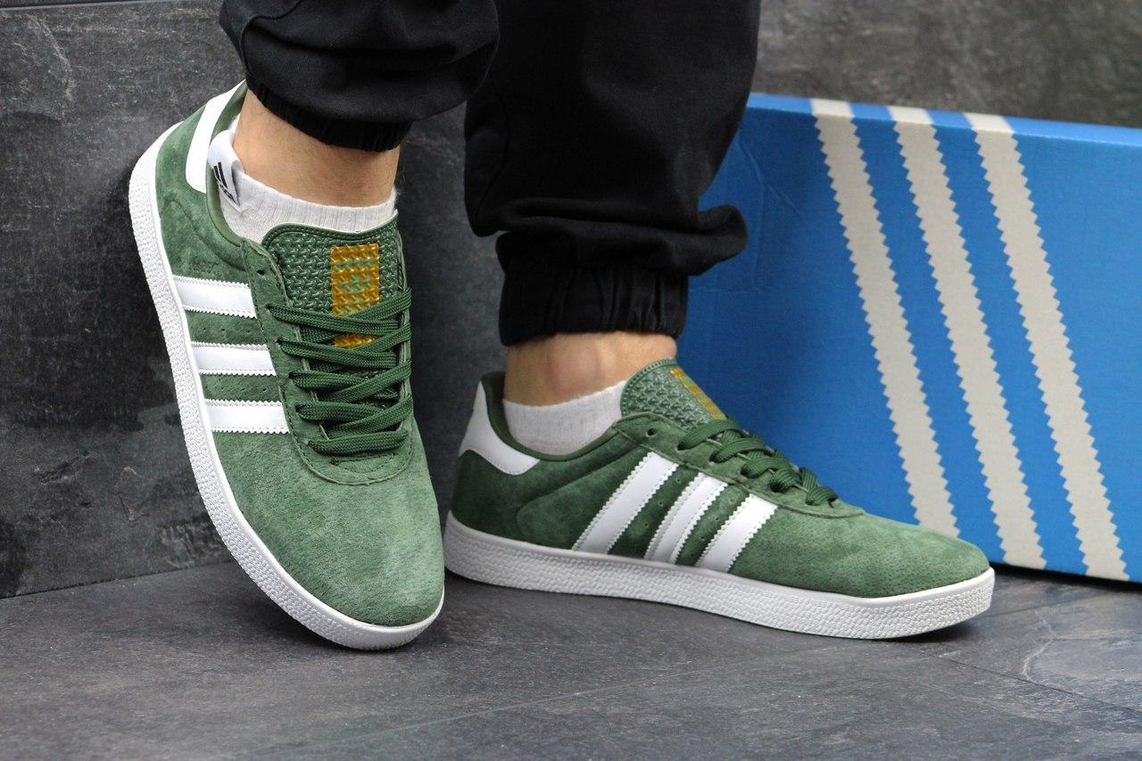 Мужские кроссовки Adidas 350 зеленые 44р