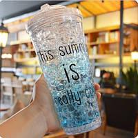 Охлаждающая бутылка (голубой)