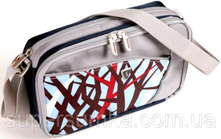 Женская сумка Sumdex PJA-677TW белая с голубым