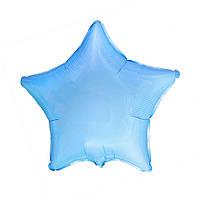 Фольгированные воздушные шары FLEXMETAL Испания, модель 301500AB, форма:звезда голубая пастель без рисунка, 18