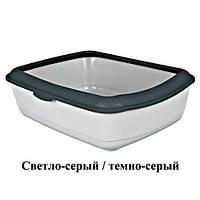 """Туалет для котов с рамкой """"Classik"""", 37*15*47см  Trixie 40312"""