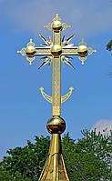 Крест православный с напылением нитрид титана КСП-02