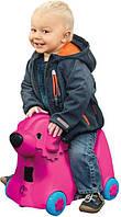 Детский чемодан на колесиках собачка Big 55353 розовый
