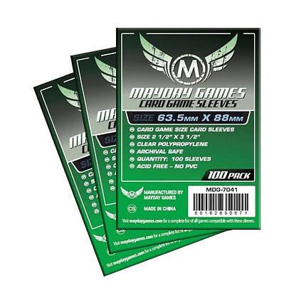 Протекторы для карт Mayday Card Game 100 шт. (63.5 х 88 мм), фото 2