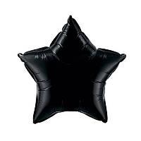 Фольгированные воздушные шары FLEXMETAL Испания, модель 301500AB, форма:звезда черная без рисунка, 18 дюймов/4