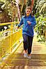 Детские спортивные штаны темно-синие 051-AZ, фото 4