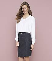 Женская юбка-карандаш черного цвета. Модель Ecrin Zaps, коллекция осень-зима 2017-2018
