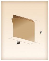 Бумажные пакеты саше-уголок для фаст-фудов