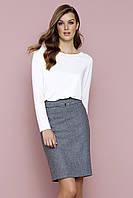 Женская офисная юбка серого цвета Ecrin Zaps, коллекция осень-зима 2017-2018