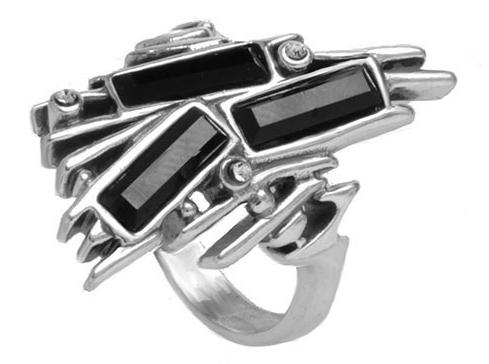"Кольцо ""Дарчини"" с кристаллами Swarovski, покрытое серебром (h8523060)"