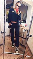 Женский спортивный костюм майка штаны накидка кофта чёрный 42-44 46-48 50-52