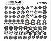 Трафарет Deep design для ногтей №240