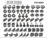 Трафарет Deep design для ногтей №241