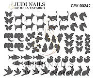 Трафарет Deep design для ногтей №242
