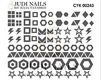 Трафарет Deep design для ногтей №243