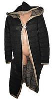 Кофта женская вязанная с капюшоном брошка (деми)