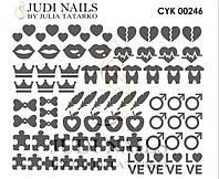 Трафарет Deep design для ногтей №246