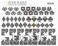 Трафарет Deep design для ногтей №250