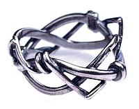 """Кольцо """"Байкер"""" покрытое серебром (a8513090)"""