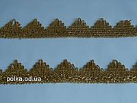 """Золотая тесьма """"высокий треугольник""""металлизированная, ширина 4см (1 уп-18м=20 ярдов)"""