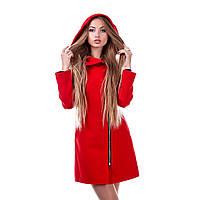Пальто женское с капюшоном кашемировое