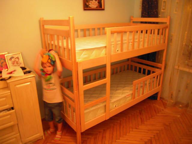 Двоярусне ліжко Том і Джері у натуральному кольорі 13