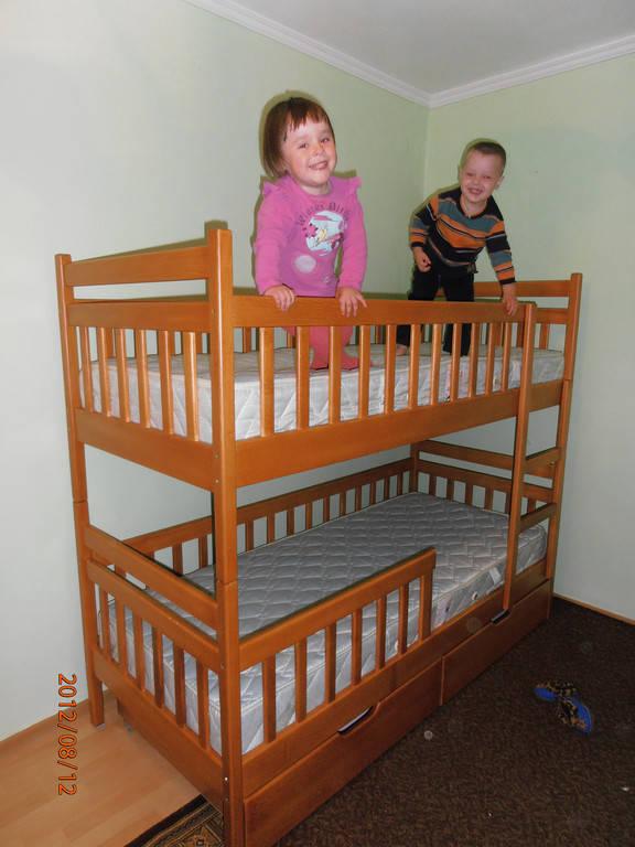 Ліжко двоярусне Том і Джері з дерева