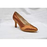 Туфли для танцев  женские Стандарт сатин бежевый