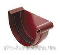 Заглушка желоба левая/правая водосточной системы BRYZA 150;белый,коричневый;диаметр 150 мм.