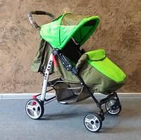 Прогулочная коляска-книжка Baby car, Trans Baby оливка+зеленая