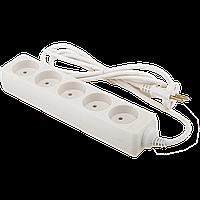 Удлинитель сетевой LogicPower LP-WX5, 5 розеток, цвет-белый, 3,0 m