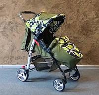 Прогулочная коляска Baby car, Trans Baby оливка+петли