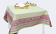 Льняная жаккардовая скатерть (150 на 200 см)