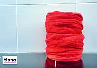 Толстая пряжа мериноса 100 % Красный. 21 микрон
