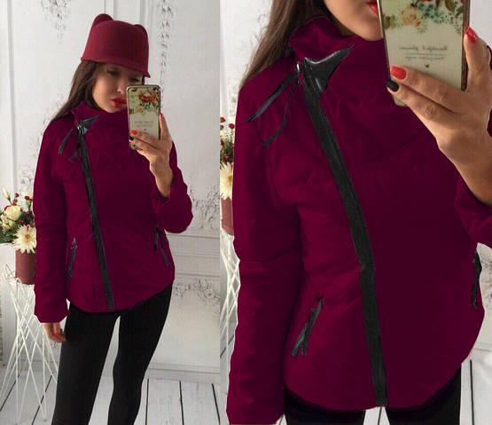 """Куртка демисезонная женская """"Ариэла"""" бордовый, 42"""