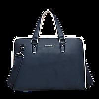 Ручная сумка кожаная, синяя