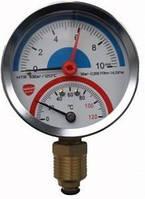 "Термоманометр радиальный Sanlux Termo (Ø 80, 1/4"", 10 бар, 0-120°C)"