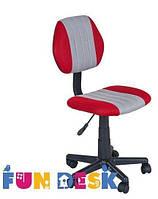 Ортопедическое детское кресло Fundesk LST4 (Нагрузка до 80 кг, 7-16 лет) ТМ FunDesk Красный+серый LST4 Red-Grey