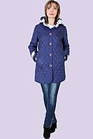 Красивая стеганная весенняя куртка для женщин большого размера 50-58