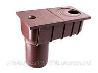 Колодец ливневой с прямым сливом  водосточной системы PROFIL 90/75;коричневый,белый;диаметр 75/101 мм