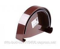 Заглушка желоба левая водосточной системы PROFIL 130/100;коричневый,белый;диаметр 130 мм