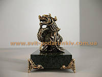 Статуэтка бронзовый Дракон с жемчужиной, бронзовые фигурки животных
